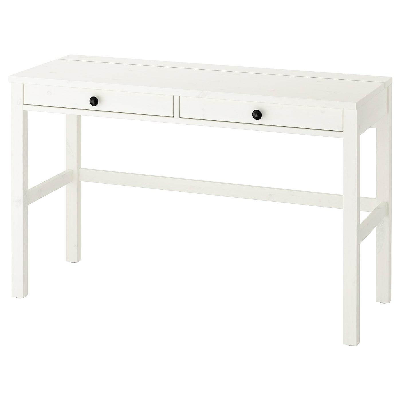 IKEA HEMNES białe biurko z dwiema szufladami, 120x47 cm