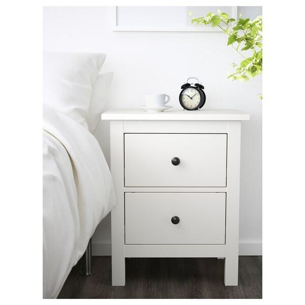 HEMNES Komoda, 2 szuflady, biały, 54x66 cm
