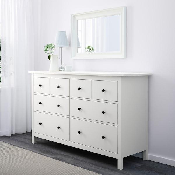 HEMNES Komoda, 8 szuflad, biały, 160x96 cm