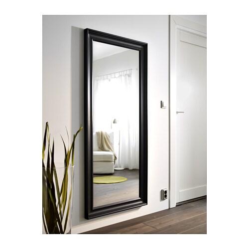 ХЕМНЭС Зеркало, черно-коричневый 74x165 см-4