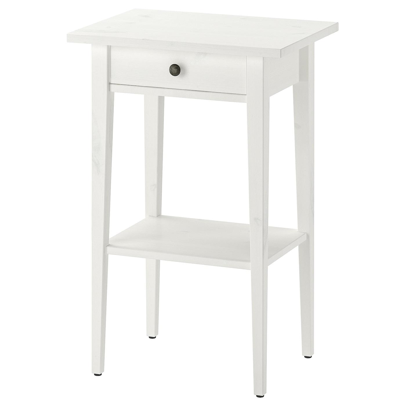IKEA HEMNES biały, sosnowy stolik nocny, 46x35 cm