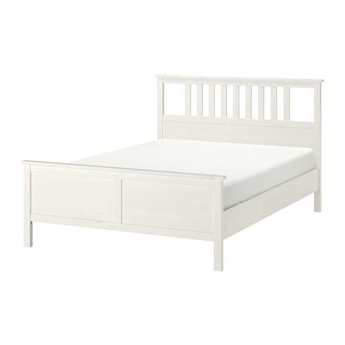 hemnes rama ka 160x200 cm bia a bejca ikea. Black Bedroom Furniture Sets. Home Design Ideas