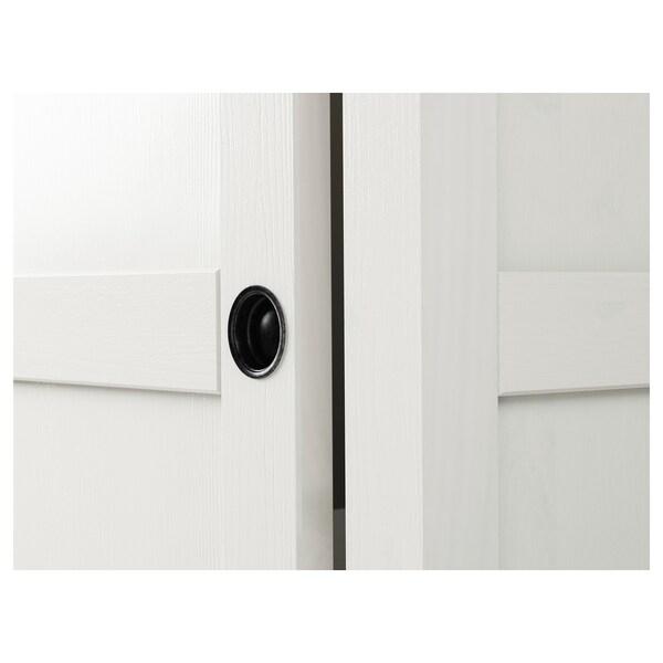 HEMNES szafa z 2 drzwiami przesuwnymi biała bejca 120 cm 59 cm 197 cm