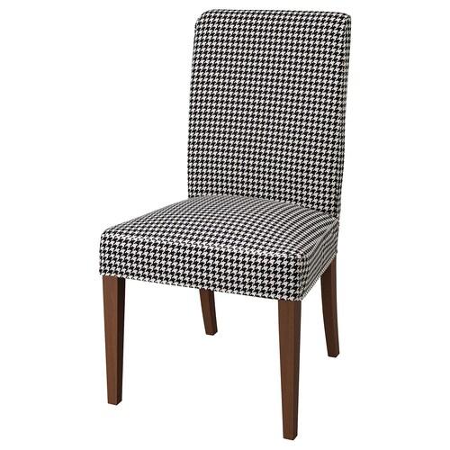 HENRIKSDAL krzesło brązowy/Vibberbo czarny/beżowy 110 kg 51 cm 58 cm 97 cm 51 cm 42 cm 47 cm