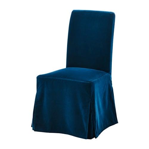 HENRIKSDAL Krēsla pārvalks, garš, Djuparp tumši zaļi zils