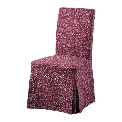 HENRIKSDAL Krēsla pārvalks, garš, Ryrane tumši sarkans
