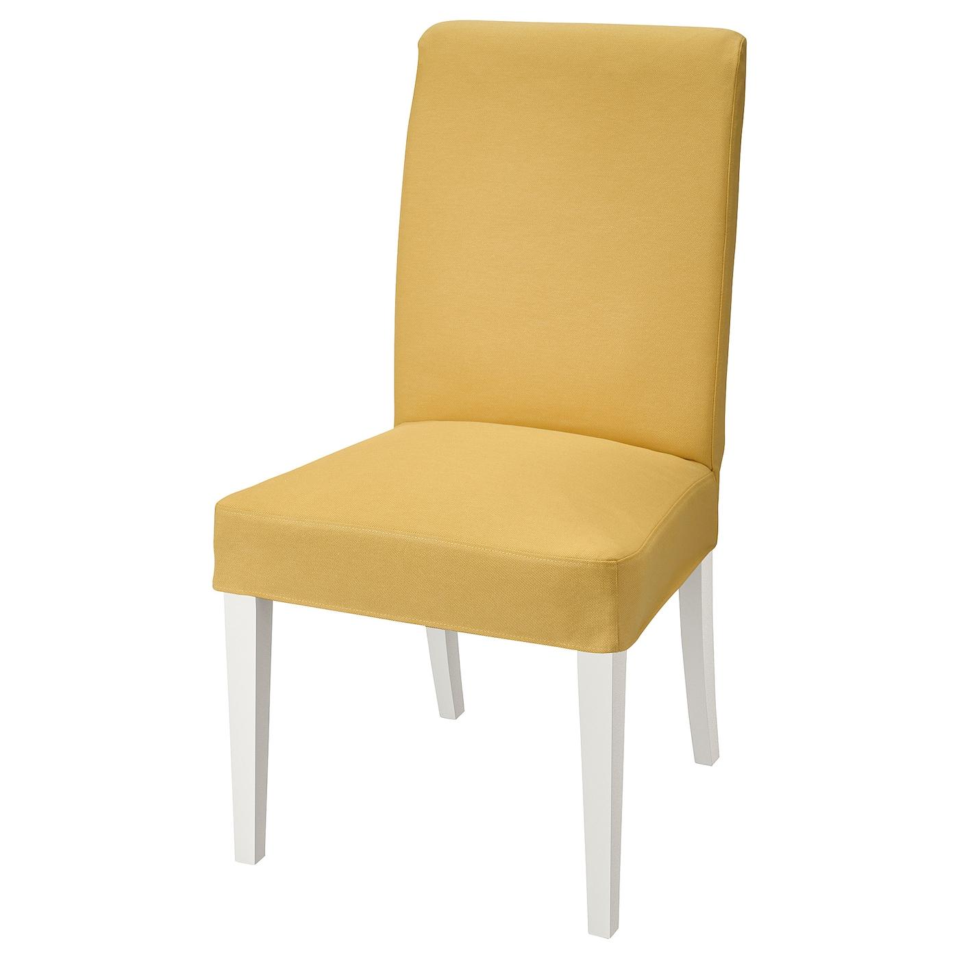IKEA HENRIKSDAL Krzesło, biały, Orrsta złotożółty