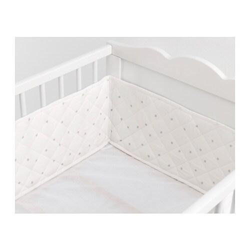 IKEA HIMMELSK Aizsargs gultiņai, balta, pelēka