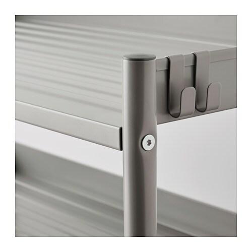 ХИНДЭ Стеллаж, серый, 78x82 см-6