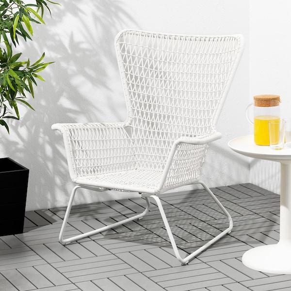 HÖGSTEN Fotel ogrodowy, biały