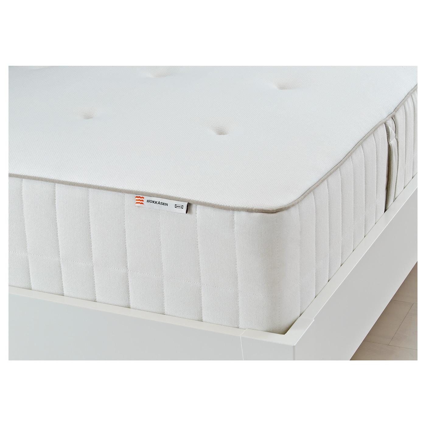 IKEA HOKKÅSEN Materac, sprężyny kieszeniowe, średnio twardy, biały, 160x200 cm