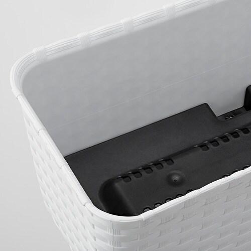 HONUNGSMELON-2  Osłonka doniczki, biały, zewnętrzne, 30x13 cm
