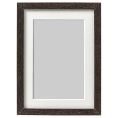 HOVSTA Ramka, ciemnobrązowy, 13x18 cm