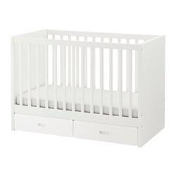 STUVA / ФРИТИДС Кроватка детская с ящиками, белый, 60x120 см.