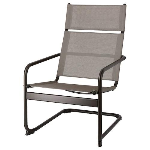 HUSARÖ fotel ogrodowy ciemnoszary 110 kg 64 cm 80 cm 102 cm 57 cm 48 cm 42 cm