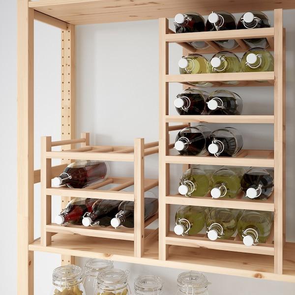 HUTTEN Stojak na 9 butelek wina, lite drewno