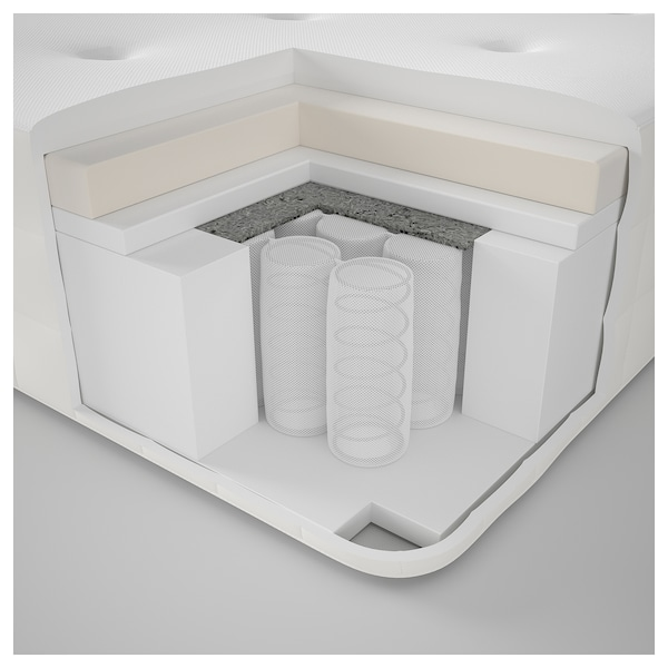 IKEA HYLLESTAD Materac, sprężyny kieszeniowe