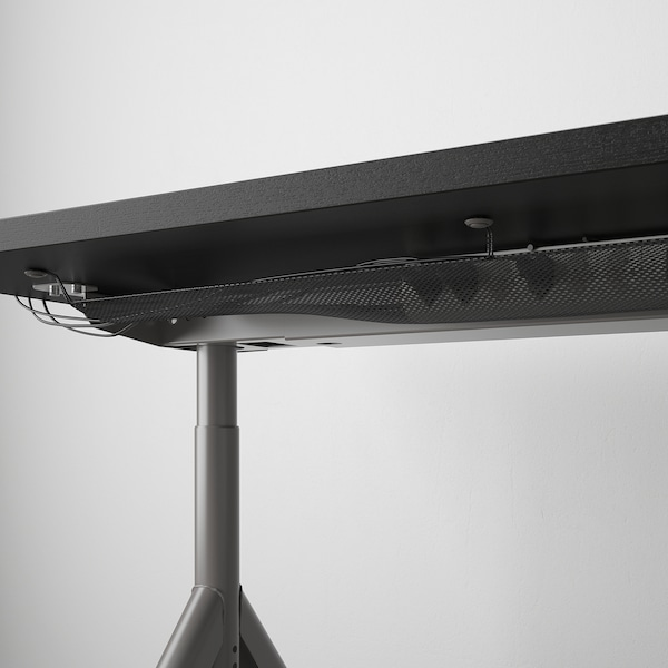 IDÅSEN Biurko, czarny/ciemnoszary, 120x70 cm