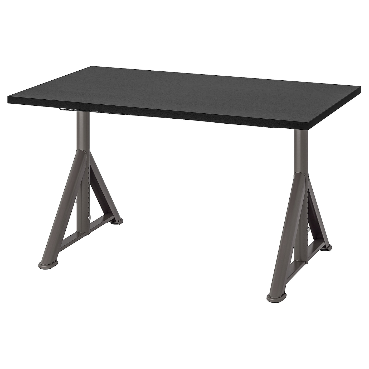 IKEA IDÅSEN Biurko, czarny, ciemnoszary, 120x70 cm