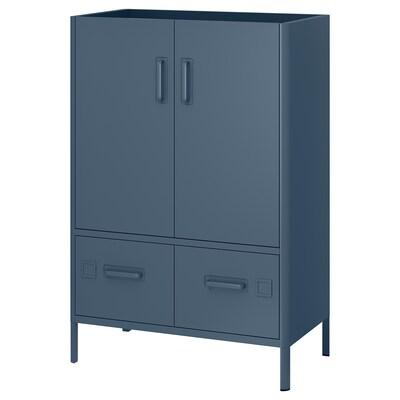 IDÅSEN Szafka z drzwiami i szufladami, niebieski, 80x47x119 cm