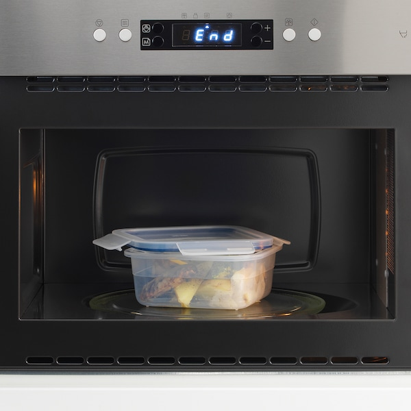 IKEA 365+ pojemnik na żywność z pokrywką kwadrat/plastik 15 cm 15 cm 7 cm 750 ml