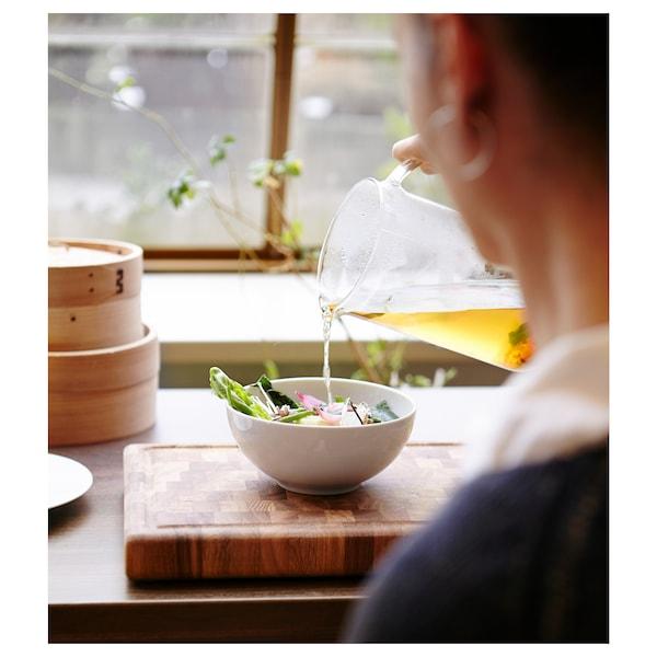 IKEA 365+ dzbanek z pokrywką szkło bezbarwne/korek 21 cm 1.5 l