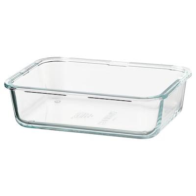 IKEA 365+ Pojemnik na żywność, prostokąt/szkło, 1.0 l