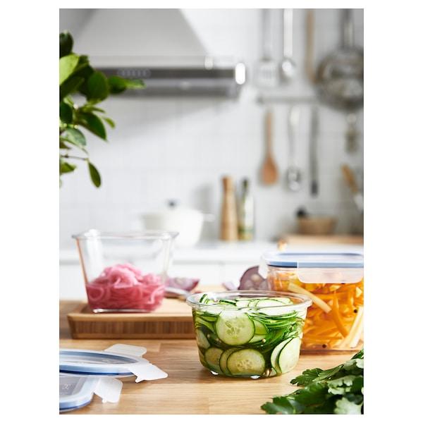 IKEA 365+ Pojemnik na żywność z pokrywką, okrągły szkło/plastik, 600 ml