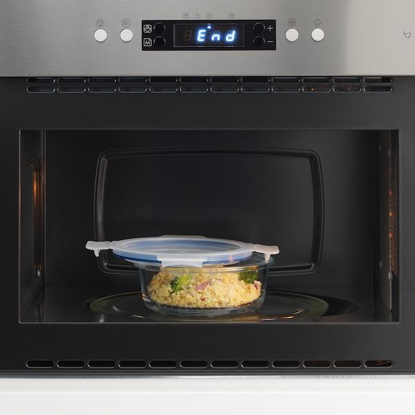 IKEA 365+ Pojemnik na żywność z pokrywką, okrągły szkło/plastik, 400 ml