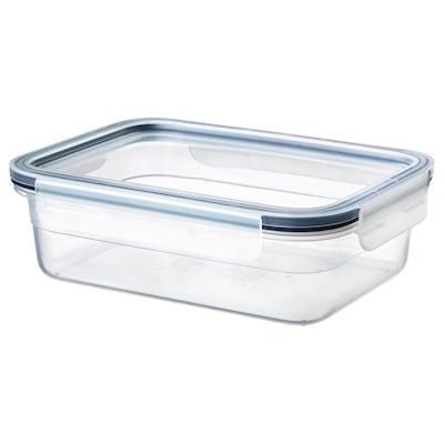 IKEA 365+ Pojemnik na żywność z pokrywką, prostokąt/plastik, 1.0 l