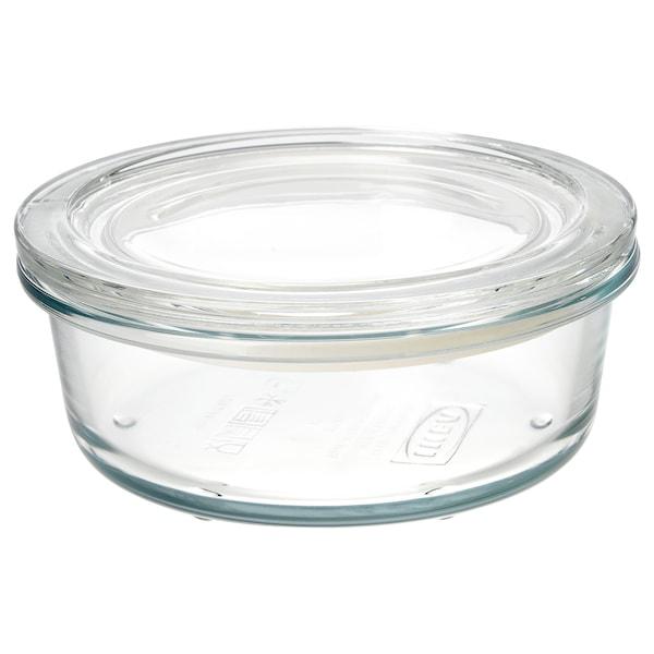 IKEA 365+ Pojemnik na żywność z pokrywką, szkło, 400 ml