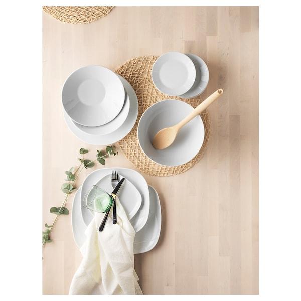IKEA 365+ Talerz głęboki/miska, zakrzywione boki biały, 22 cm