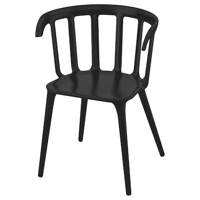 IKEA PS 2012 Krzesło z podłokietnikami, czarny
