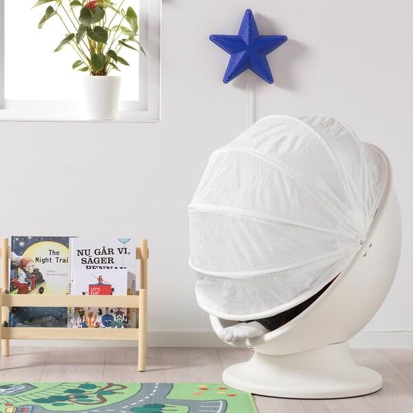 IKEA PS LÖMSK Fotel obrotowy, biały/czerwony