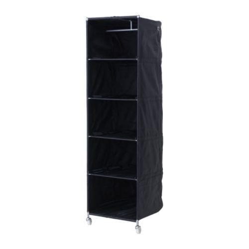 IKEA PS Szafka/półka , czarny Szerokość: 52 cm Głębokość: 68 cm Wysokość: 164 cm