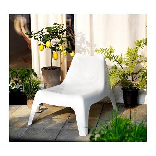 ИКЕА ПС ВОГЭ Садовое легкое кресло, белый-6