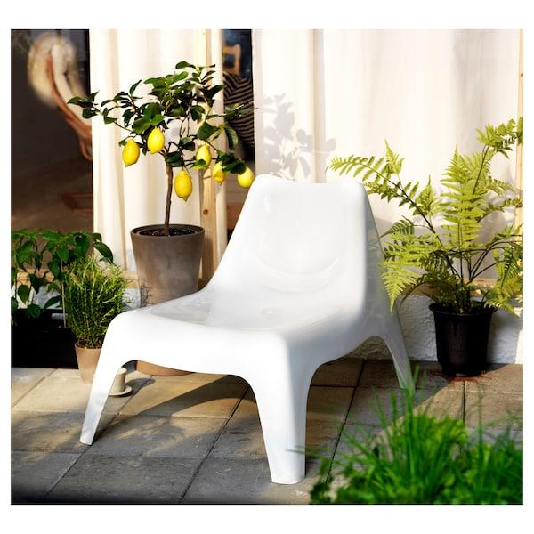 IKEA PS VÅGÖ Fotel ogrodowy, biały