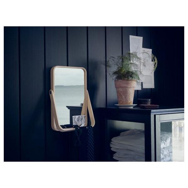 IKORNNES Lustro stołowe, jesion, 27x40 cm