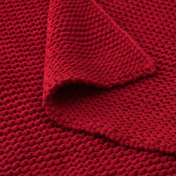 INGABRITTA Pled, czerwony, 130x170 cm