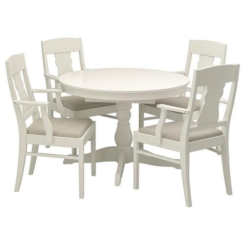 INGATORP / INGATORP stół i 4 krzesła biały 110 cm 155 cm 74 cm 110 cm