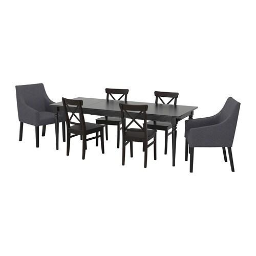 Ingatorp Ingolf Stół I 6 Krzeseł Ikea