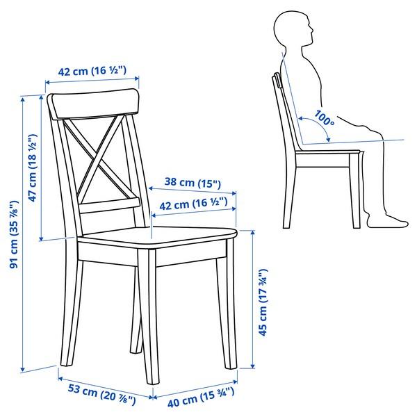 INGATORP / INGOLF Stół i 2 krzesła, czarnybrąz/biały, 65/123x78 cm