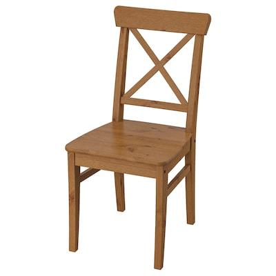 INGOLF Krzesło, bejca patynowa