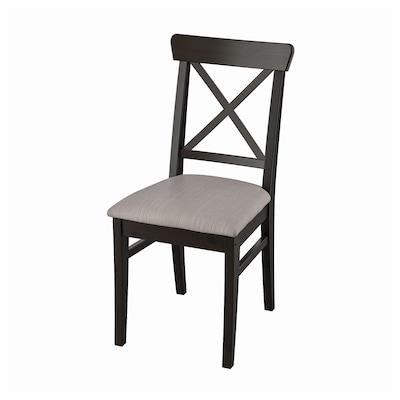 INGOLF Krzesło, brązowoczarny/Nolhaga szarobeżowy