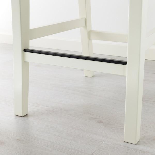 INGOLF Stołek barowy z oparciem, biały, 63 cm