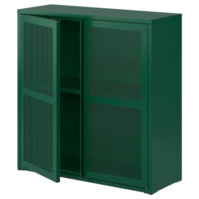 IVAR Szafka/drzwi, zielony siatka, 80x83 cm