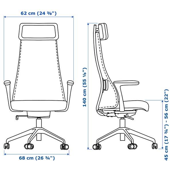 IKEA JARVFJALLET krzesło obrotowe biurowe BEŻOWY 699 zł