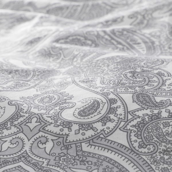 JÄTTEVALLMO Komplet pościeli, biały/szary, 200x200/50x60 cm