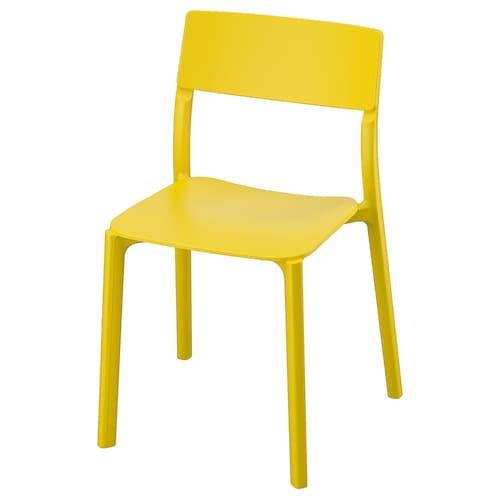 JANINGE krzesło żółty 110 kg 50 cm 46 cm 76 cm 40 cm 40 cm 44 cm