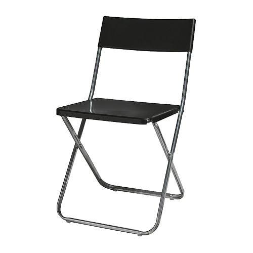 Продам складной стул Джеф, черный, куплен в Икеа - 300р.
